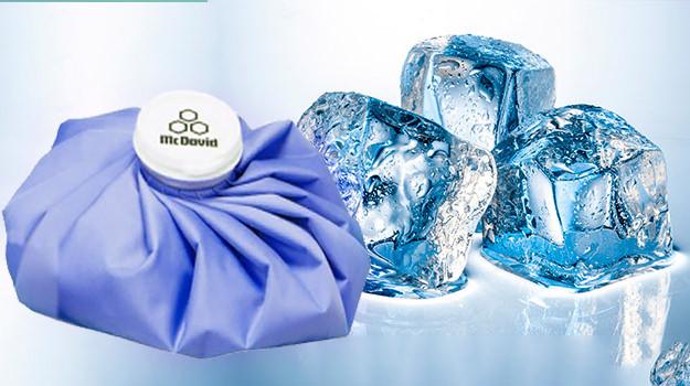 Холодный компресс со льдом