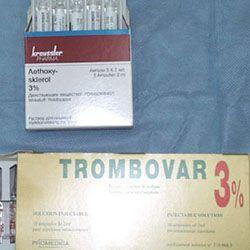 Склеротерапия геморроидальных узлов Тромбовар
